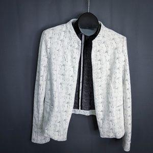 Halogen Blazer Jacket Size Large White Womens Knit